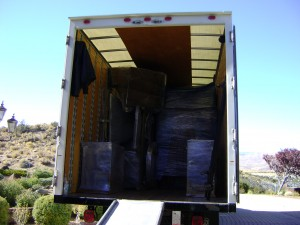 Well-packed items secured in a clean, organized truck will prevent damage during transit.